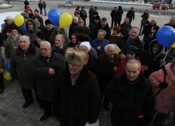 В Донецке в День Соборности  оппозиционеры собрали  12-метровый пазл «Карты  Украины» (фото), фото-4