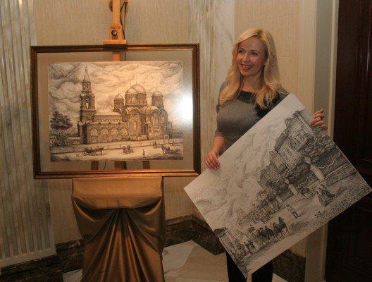 Донецкая художница собирается впечатлить гостей «Евро-2012» видами старой Юзовки (фото), фото-1