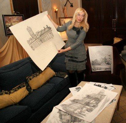 Донецкая художница собирается впечатлить гостей «Евро-2012» видами старой Юзовки (фото), фото-3