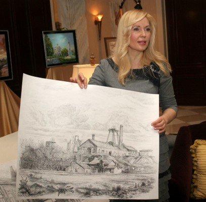 Донецкая художница собирается впечатлить гостей «Евро-2012» видами старой Юзовки (фото), фото-4