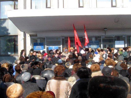 В Горловке активисты требовали не повышать тарифы на тепло и не ремонтировать дороги, фото-1