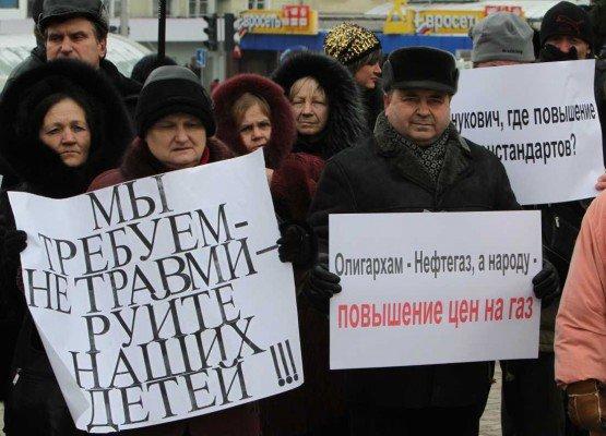 В годовщину инаугурации Януковича в Донецке провели митинг протеста (фото), фото-7
