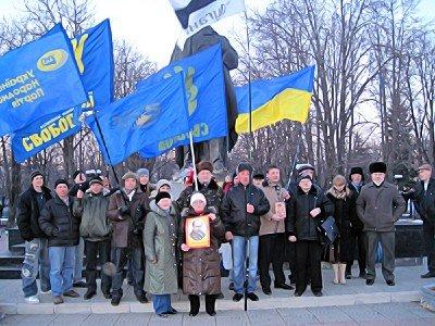 Митинг в Луганске. И годовщину отметили и чучело сожгли (фото), фото-3