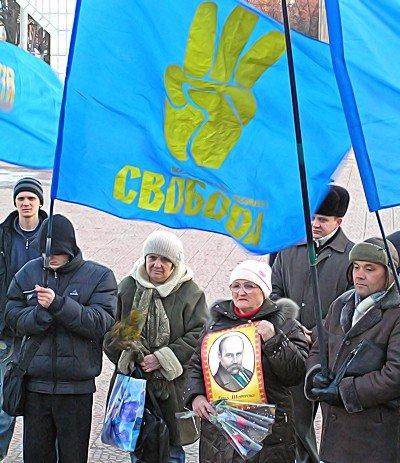 Митинг в Луганске. И годовщину отметили и чучело сожгли (фото), фото-2