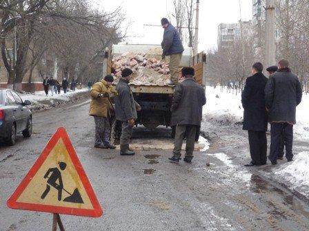 В Горловке начали ремонтировать дороги, фото-1