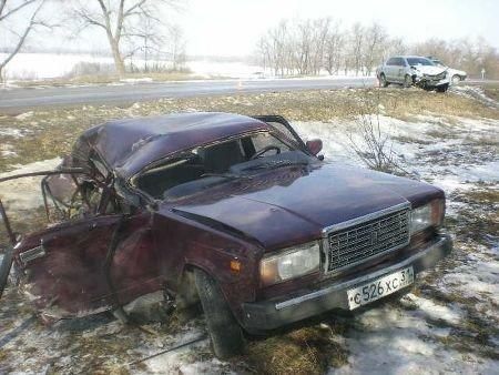 Под Харьковом столкнулись две легковушки: 1 человек погиб, 4 – ранены (ФОТО), фото-1