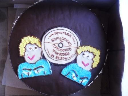 Горловский фанклуб братьв Борисенко удивил кумиров тортом с их изображением, фото-5