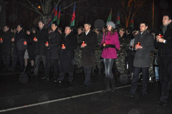 Ко Дню освобождения Николаева центр города зажгли свечами, фото-6