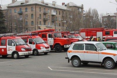 Вчера луганские МЧСники тушили условный пожар (фото), фото-1