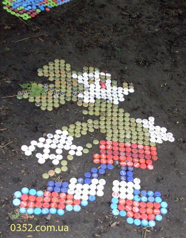 Біля тернопільської школи - барвиста мозаїка, фото-2