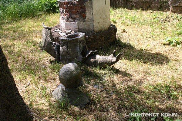 В Симферополе Дзержинскому оторвали голову (фото), фото-1