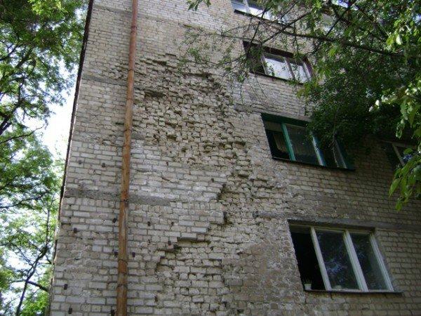 Обрушение фасада жилого дома на Отакара Яроша. Подробности  (ФОТО), фото-1