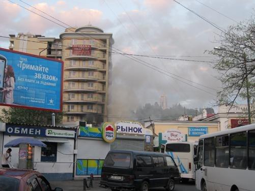 В Ялте загорелся элитный дом (ФОТО), фото-1