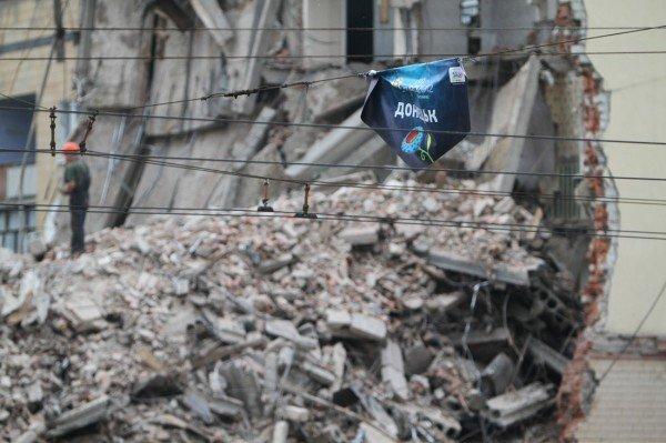 Александр Лукьянченко считает законным снос Януковичем гостиницы в центре Донецка (фото того, что осталось от «Дружбы»), фото-4