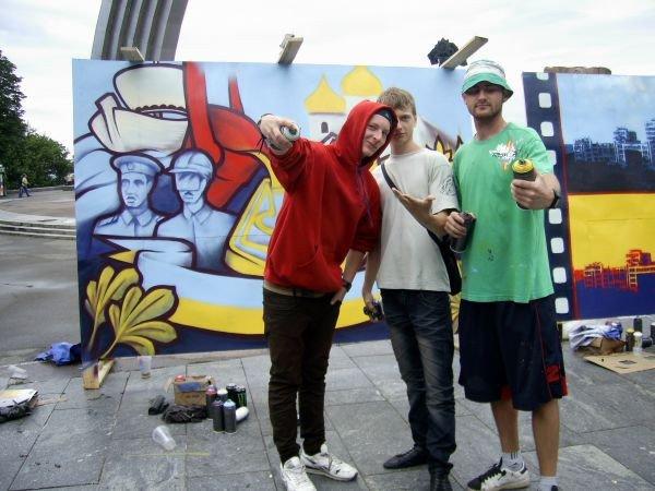 Запорожские граффитчики заработали приз зрительских симпатий на фестивале в Киеве (ФОТО), фото-1