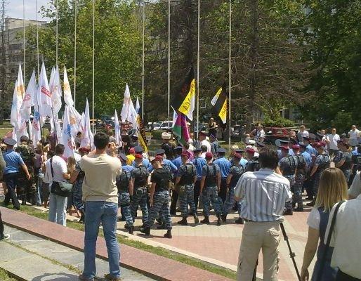Милиция заблокировала центр Симферополя (фото), фото-3