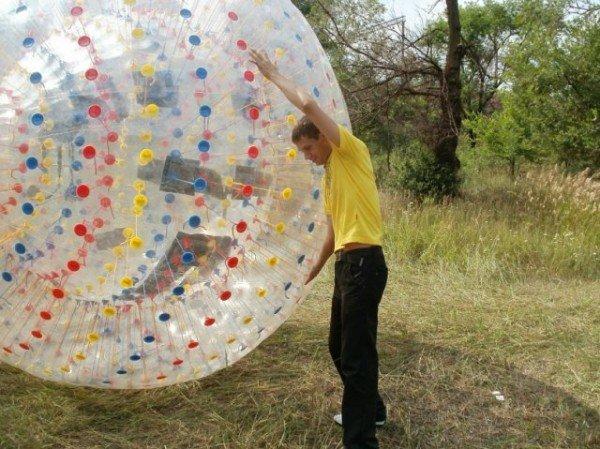 Экшн в шаре, но не «на шару» - в Кривом Роге появился  первый ZORB (фото), фото-1