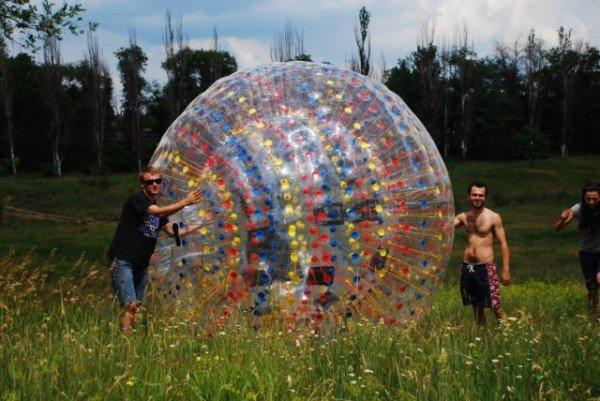 Экшн в шаре, но не «на шару» - в Кривом Роге появился  первый ZORB (фото), фото-5