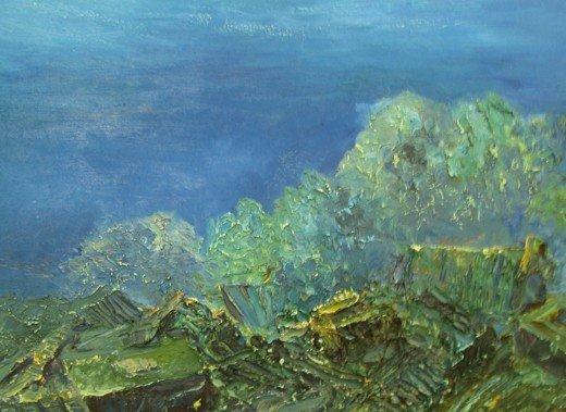 В Симферополе выставили картины, нарисованные на 25-метровой глубине (фото), фото-2