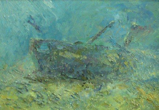 В Симферополе выставили картины, нарисованные на 25-метровой глубине (фото), фото-4