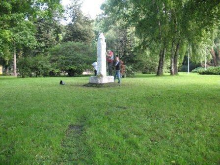 У Тернополі демонтували самовільно встановлену культову скульптуру, фото-1