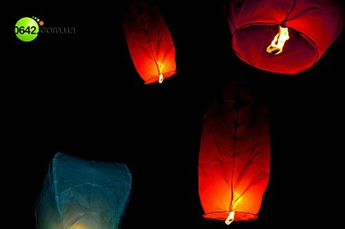 Луганчане запустили небесные фонарики (фото), фото-1
