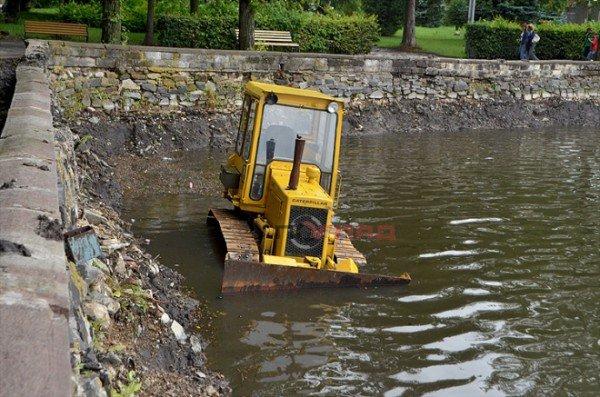 Осушене для чистки тернопільське озерце залило дощем, фото-3
