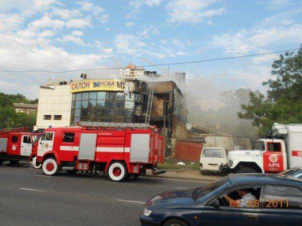 В Одессе пожар на ул Балковской, горит «Нова» (добавлено фото), фото-2