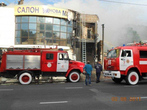 В Одессе пожар на ул Балковской, горит «Нова» (добавлено фото), фото-4