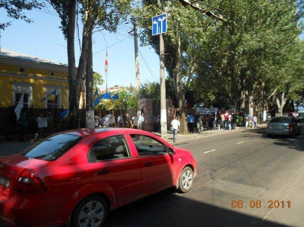 Одесские националисты  напомнили о своей солидарности с грузинами (ФОТО), фото-4