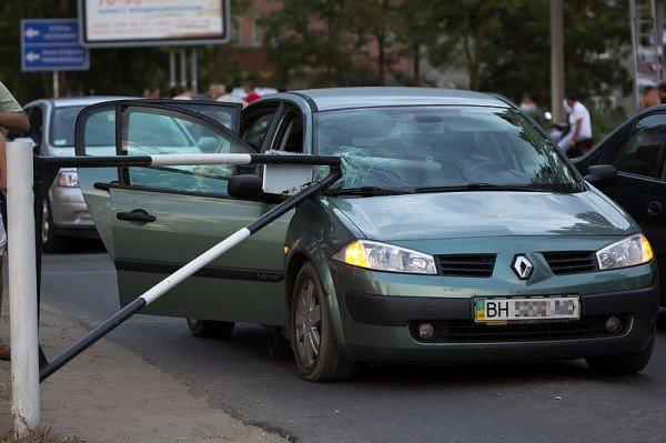 Одессит в Коблево попал в нелепое ДТП (фото), фото-1