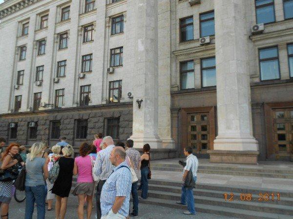 Инвесторы «Прогресс - Строя» грозятся устроить скандал перед стенами одесской мэрии ( фото), фото-1