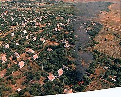 Во время патрулирования территории Луганской области вертолет обнаружил два пожара (фото), фото-4