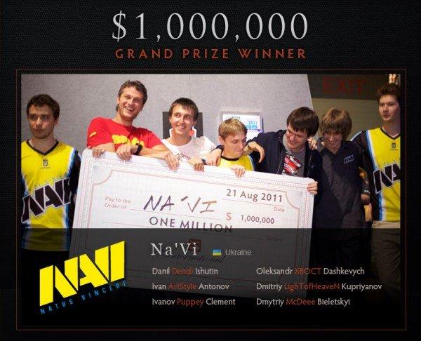 Украинская команда NA'VI в DOTA 2 выиграла 1 000 000 долларов (фото), фото-1