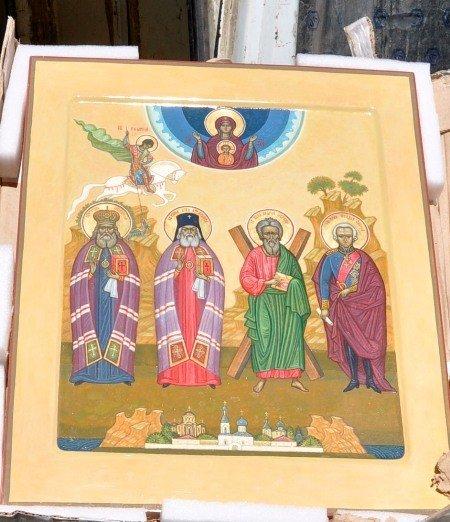 Икона Святых покровителей Керченского полуострова прибыла сегодня в Симферополь (добавлено фото), фото-1