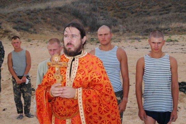 Украинских военнослужащих крестили в Черном море (фото), фото-4