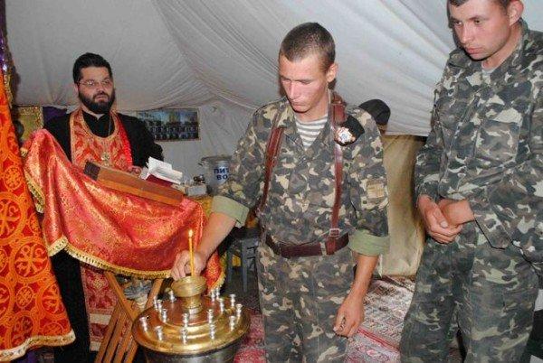 Украинских военнослужащих крестили в Черном море (фото), фото-5