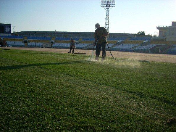 На стадионе «Авангард» начались работы по укладке газона, фото-3