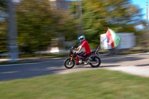 В Горловке почтили память байкерши «Никиты», сбитой сыном чиновника на «Бентли», и других мотоциклистов  (фото+видео)), фото-9