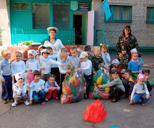Горловские малыши  боролись с террористами (фото), фото-6