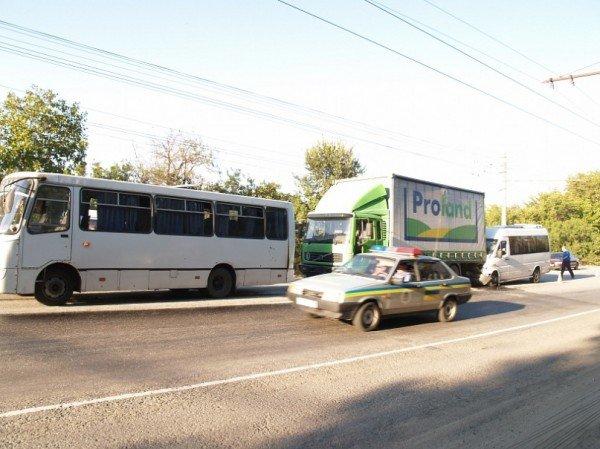 Тройное ДТП на Симферопольской трассе. Пострадали трое человек (ФОТО), фото-1
