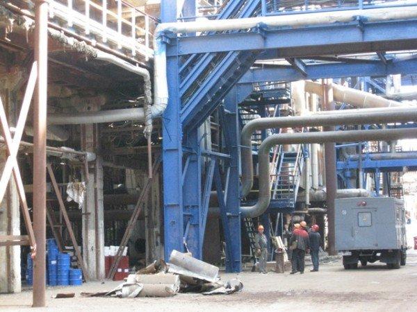 На «Стироле» при запуске оборудования на аммиачном заводе произошло возгорание, фото-1