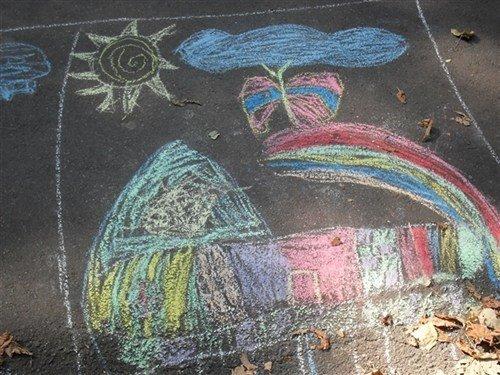В Полтаві на асфальті діти малювали місто (ФОТО), фото-1