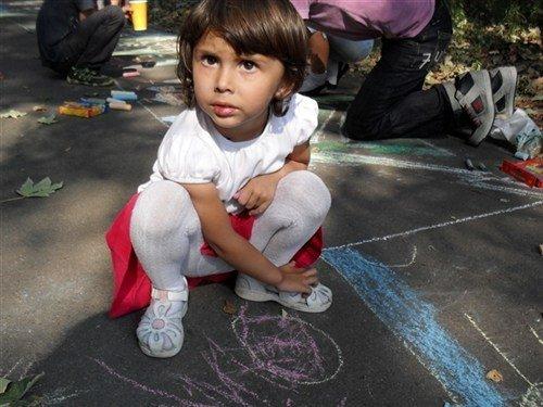 В Полтаві на асфальті діти малювали місто (ФОТО), фото-2