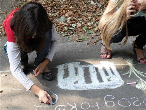 В Полтаві на асфальті діти малювали місто (ФОТО), фото-5