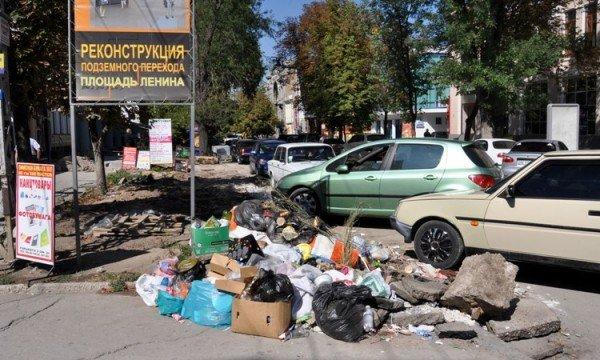 В Симферополе переходы заваливают мусором (фото), фото-1