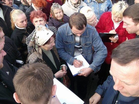 В Горловке прошел митинг против повышения коммунальных тарифов (фото и видео), фото-3