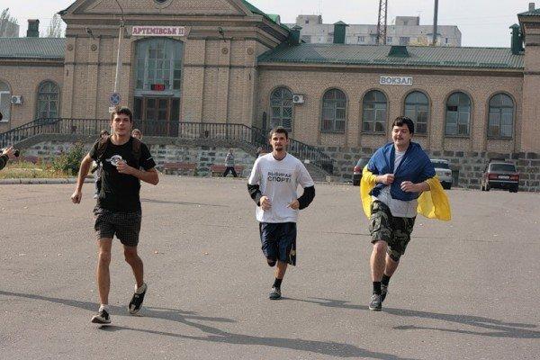 Молодежь Артемовска устроила пробежку за здоровый образ жизни, фото-1