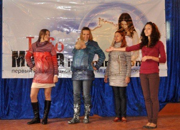Симферопольским мамочкам презентовали необычную куртку со вшитым слингом (фото), фото-2