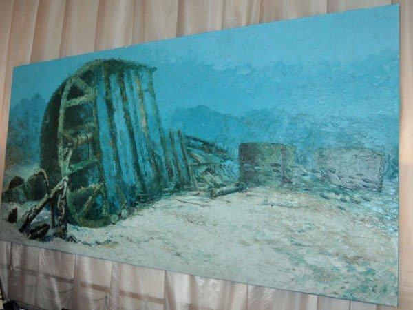 В «Ласточкином гнезде» показали картины, написанные под водой (фото), фото-4